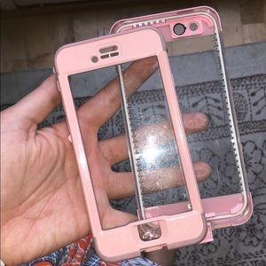 LIGHT PINK IPHONE 6S NUUD LIFEPROOF CASE